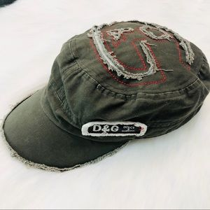Dolce & Gabbana Distressed Military Style Cap GUC